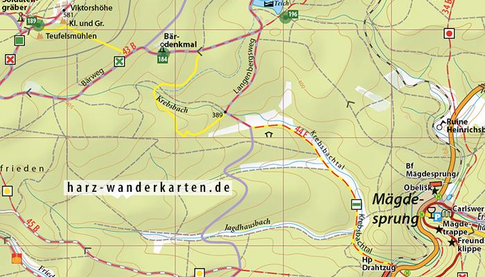 """Kartenbild Wander- und Fahrradkarte """"Ostharz"""""""