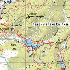 """Kartenbild Wander- und Fahrradkarte """"Südharz"""" (2017)"""