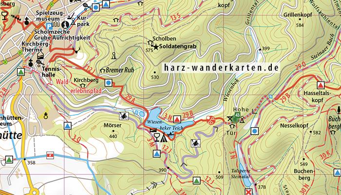 """Kartenbild Wander- und Fahrradkarte """"Südharz"""""""