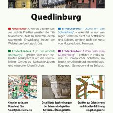 Backcover des Reiseführers Quedlinburg