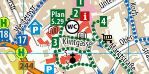 """Stadtplan aus dem Reiseführer """"Wernigerode - Der Stadtführer"""""""