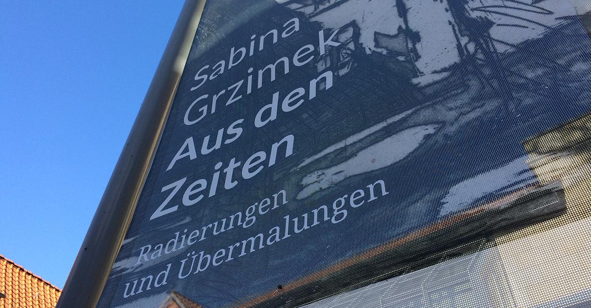 Ausstellungsplakat der Feininger Galerie in Quedlinburg