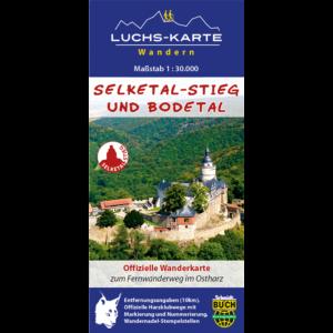 Coverbild der offiziellen Wanderkarte zum Selketal-Stieg im Harz (wasser- und reißfest)