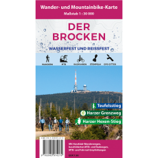 Cover der Wanderkarte und Mountainbike-Karte Der Brocken