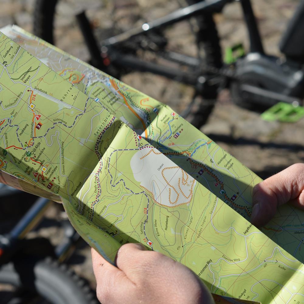 Blick in die MTB Karte Bad Harzburg