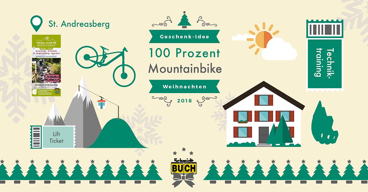 Buch Geschenk Weihnachten.Geschenk Idee Weihnachten Mountainbike Harz Schmidt Buch Verlag