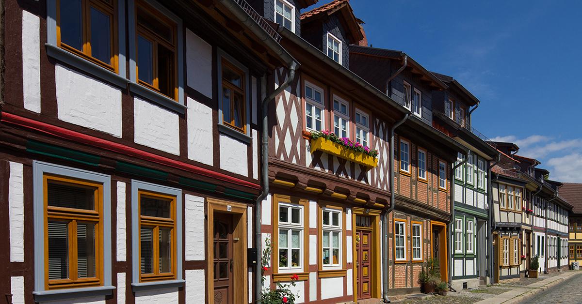 Bunte Fachwerkhäuser in Wernigerode