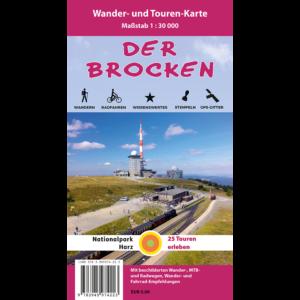 Titelbild der Wander- und Mountainbike-Karte Der Brocken