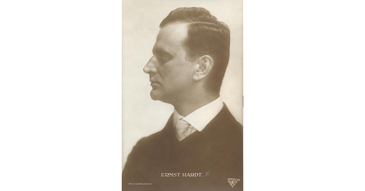 Ernst Hardt (Postkarte um 1910, Fotografie: Bruno Wiehr, Dresden, Privatbesitz, Weimar)