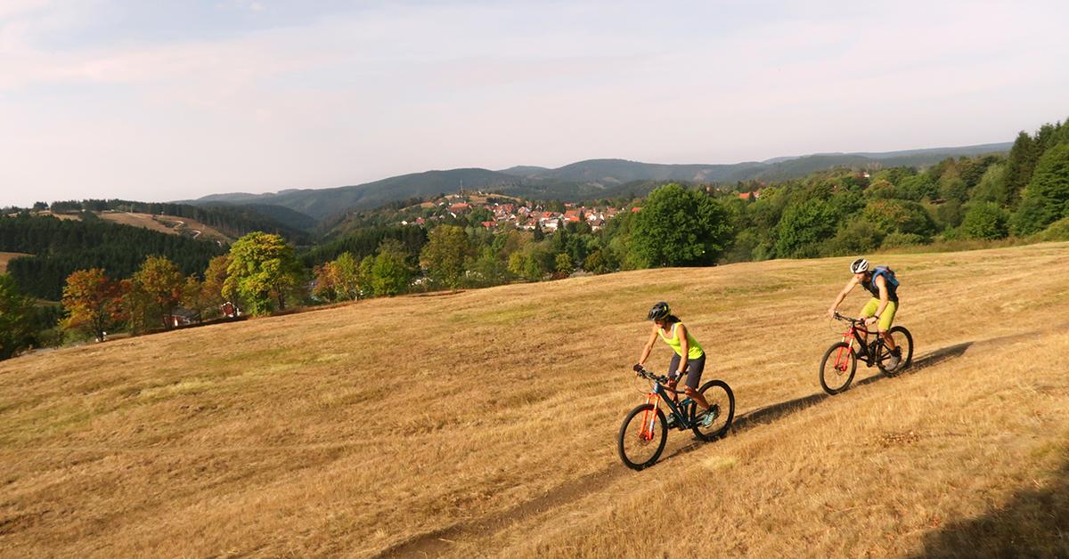 Mountainbiker bei St. Andreasberg