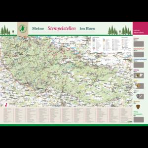 Das Rubbelposter der Harzer Wandernadel