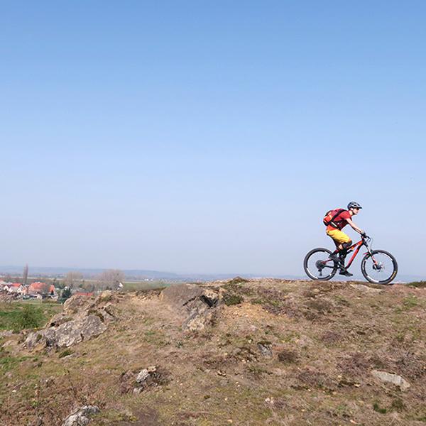 Mountainbiker bei Rieder im Ostharz
