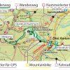 Kartografische Ausstattung der Wander- und Fahrradkarten im Maßstab 1:30.000 (ab 2019)
