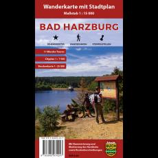 Titelbild Wanderkarte mit Stadtplan Bad Harzburg