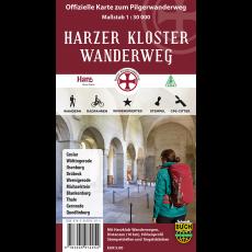 Titelbild der offiziellen Wanderkarte zum Harzer Klosterwanderweg