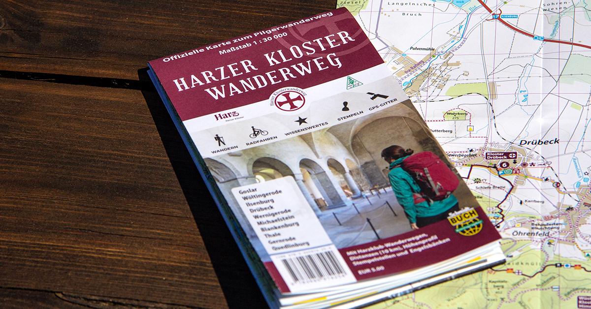 Die offizielle Karte zum Harzer Klosterwanderweg
