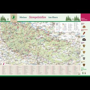 Harz-Poster mit Stempelstellen