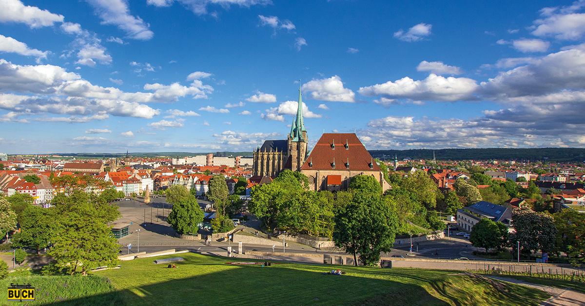 Erfurt vom Petersberg gesehen