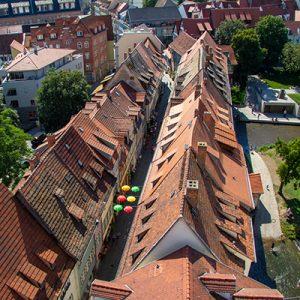 Blick auf die Erfurter Krämerbrücke