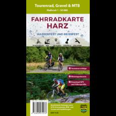 Titelbild der Fahrradkarte Harz