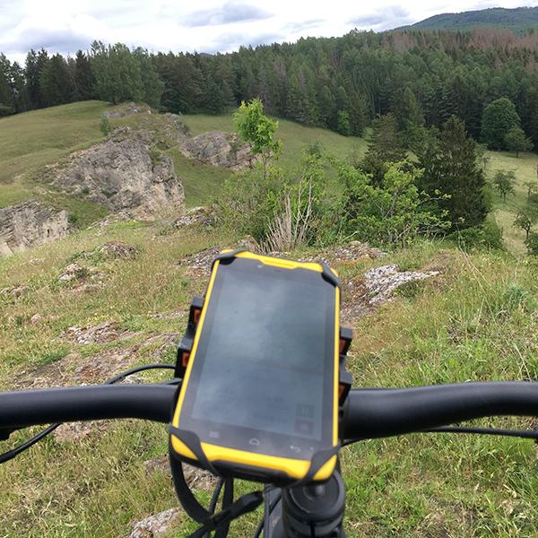 GPS-Empfänger am Fahrradlenker