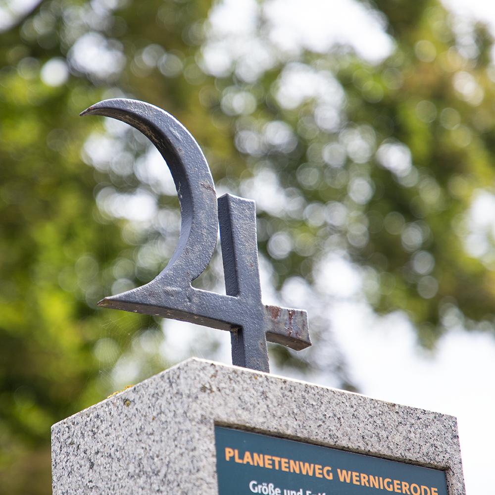 Stele am Planetenweg in Wernigerode
